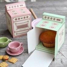 200 unids/lote 3 colores Nuevo 2018 caliente caja de regalo impresa en horno Vintage, caja de cupcake, molde para pastel cajita de recordatorio para fiestas