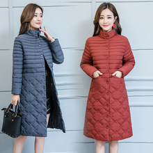 Cotton-padded Coat 2019 Womens Plus Size X-Long Warm Cotton Jackets Parka Women XL-5XL Spring Large Stand Collar Coats