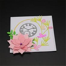 Round flower box Metal Cutting Dies Scrapbooking Embossing DIY Decorative Cards Cut Stencils