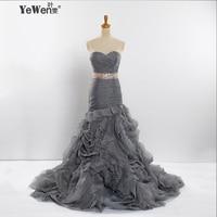 Sheath/Strapless blue/silver/pink/ Burgundy with ribbon sweep brush train Organza Mermaid Wedding dresses Bridal Gowns plus size
