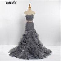 Sheath Mermaid Strapless Blue Silver Pink Burgundy With Ribbon Sweep Brush Train Bride Organza Wedding Dress