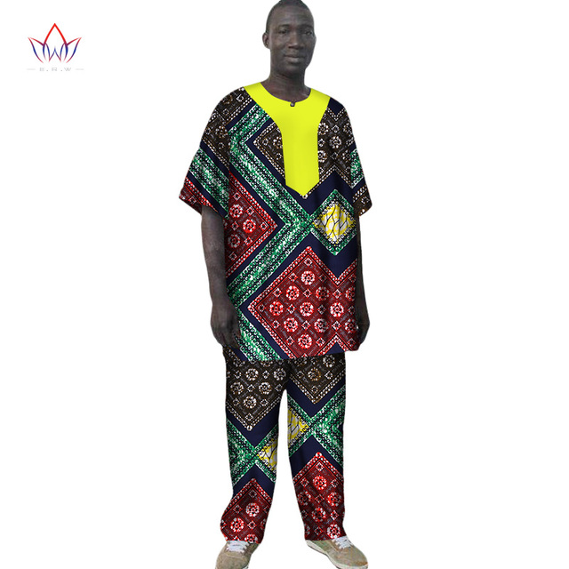 74f6de429 2017 African Mens Clothing Men African Clothes Top and Trousers Set Africa  Dashiki Wax African Traditional Clothing BRW WYN54