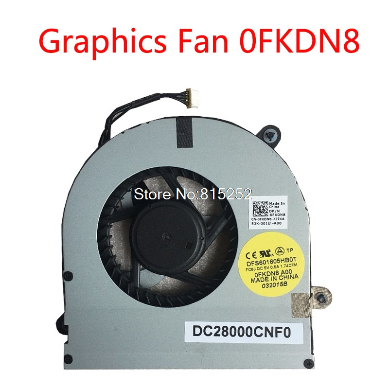 Fan Cooling Fans & Cooling The Best New Genuine For Dell Alienware M17x R3 R4 P18e Dfs601605hb0t Fa51 Dc280009af0 04k1mm 4k1mm Dc5v 0.5a 4wire 4pin Cooling Fan