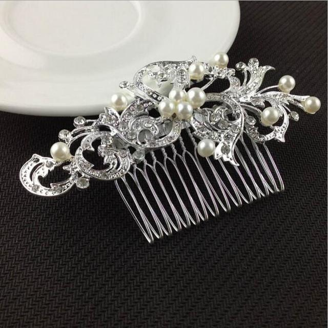 Wedding Bridal Pearl Hair Pins Flower Crystal Hair Clips Bridesmaid Jewelry Wedding Bridal Accessories Hair Jewelry