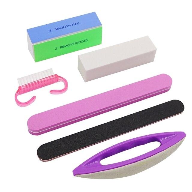1set Buffing Sanding Buffer Block Files Manicure Nail Art Tips Brush Women Beauty Tools