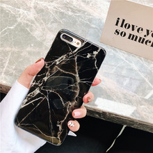 Glossy marble case on for coque iphone 8 7 xs max soft luxury granite printing stone cover 6 6s plus x xr
