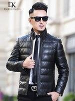 Роскошные кожаные пальто для мужчин из натуральной кожи Дюсенов Klein 2018 новинка, модель высокого качества мужчины овчины зимнее пальто черны