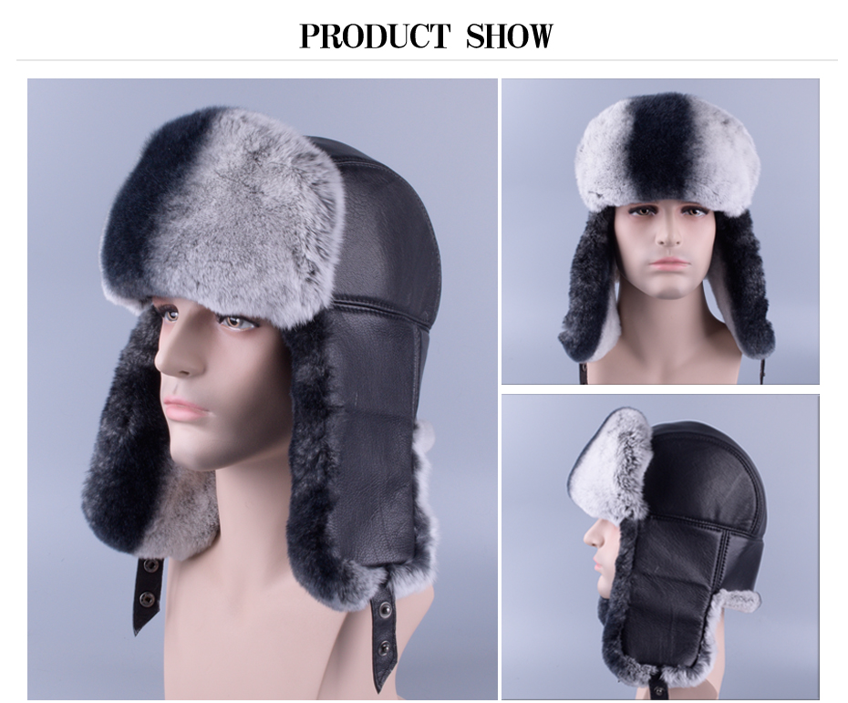 f07c4669609 2019 Raglaido Winter Men S Fur Hats Made Of Real Fur Sheep Skin ...