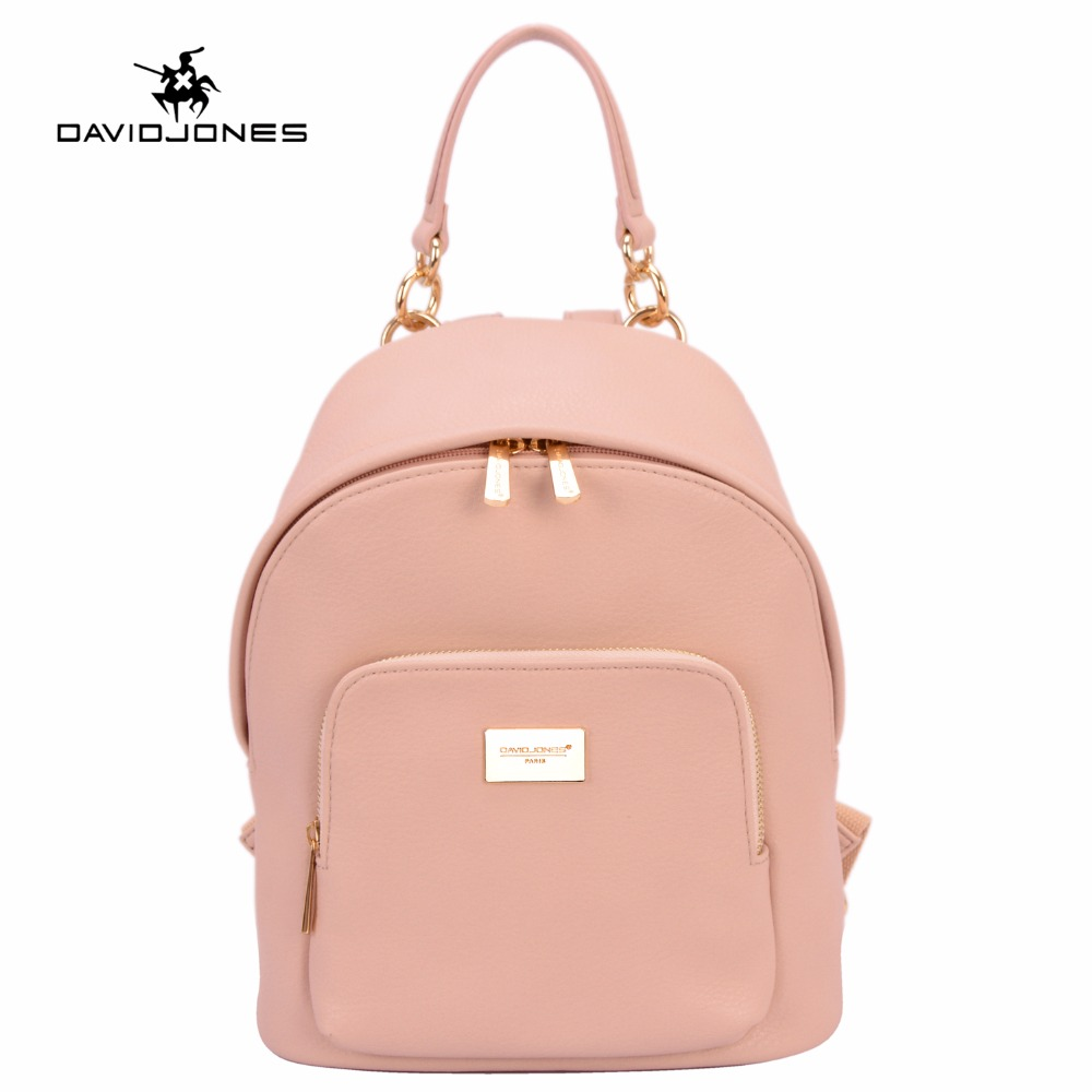 DAVIDJONES Women PU Backpack Bag Female Solid Color School Bags Top Handle Backpacks For Teenager Girls Students Feminina Bolsa