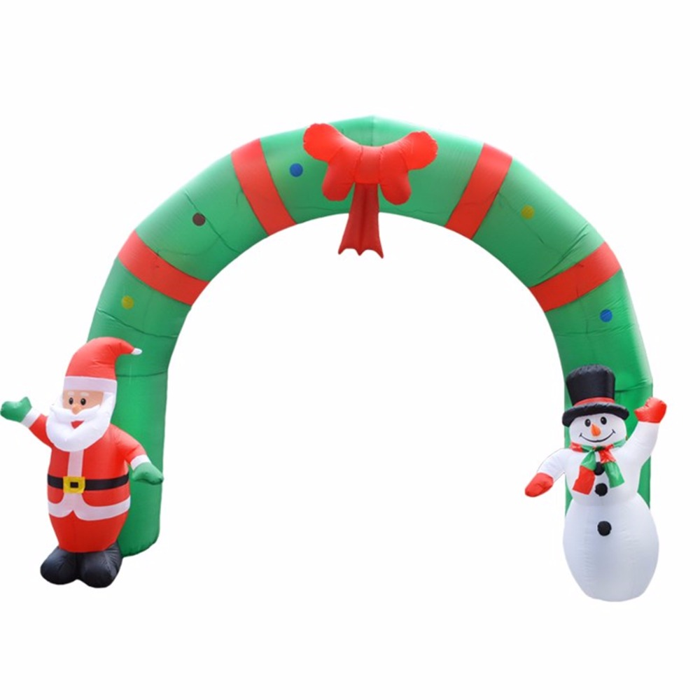 250cm Huge Inflatable Christmas Arch ArchwaySanta Snowman For Indoor ...