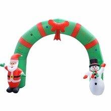 Надувная Рождественская Арка см Огромный 250 ArchwaySanta снеговик для внутреннего дома сад открытый магазин украшения с ЕС США Plug