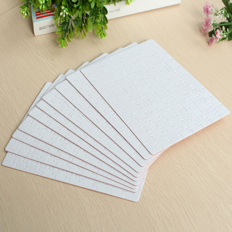 A5 DIY Blank Sublimation Printable Jigsaw Puzzle For Heat Presses Transfer 10Pcs Set