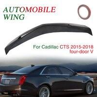4 двери черный 4D спойлер крыло багажник Декор отделки автомобилей Спойлер ствол заднее крыло для Cadillac CTS седан хвост