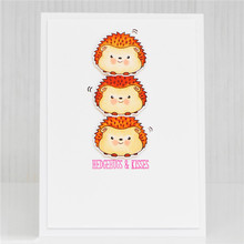 Naifumodo Stamps Clear and Dies Animal for Card Making Cutting Hedgehog Scrapbooking Metal Lets Roll Craft Stencil New