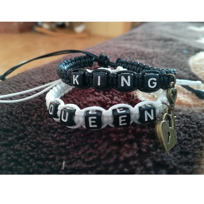 Couple Lock Charm Rope Bracelet 4