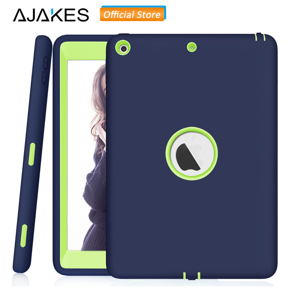 AJAKES Case For New iPad 2017 9.7 Inch Kids Friendly Shock Proof Soft Silicone Back Cover For Apple iPad 9.7 Inch 2017 Release for ipad mini4 cover high quality soft tpu rubber back case for ipad mini 4 silicone back cover semi transparent case shell skin
