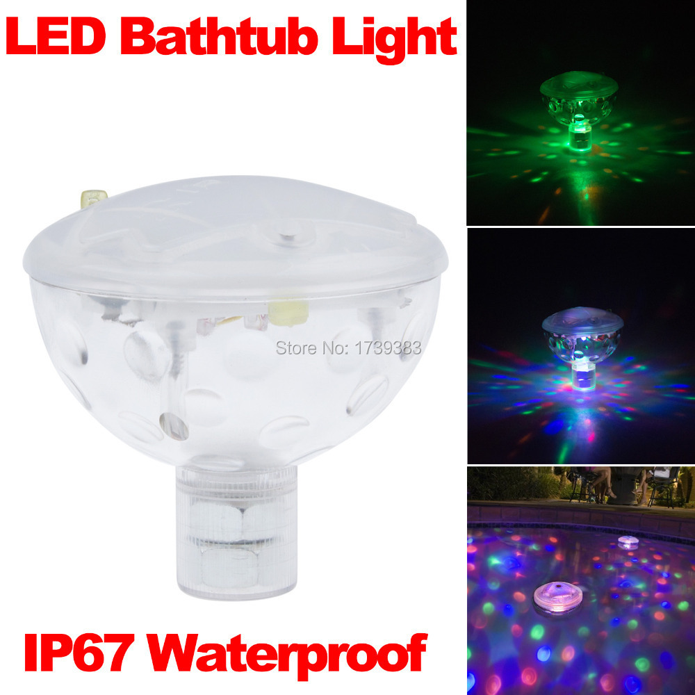 2015 Creative 6V 3AAA Underwater LED Aquarium Light Show For Pond Bathtub  Spa Hot Tub Disco