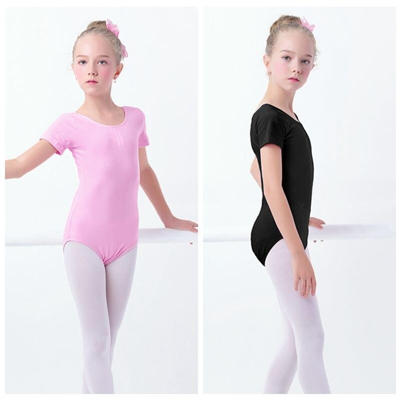 black-girls-kids-gymnastics-leotard-cotton-spandex-font-b-ballet-b-font-leotards-short-sleeve-font-b-ballet-b-font-clothes-dancewear