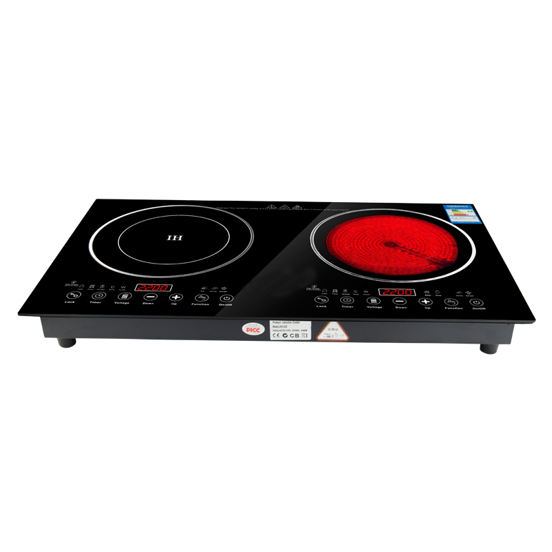 220V 2200W electric induction cooker /cooktop/ stove /cookware/hob/ ceramic stove with 2 cookers midea c21 wt2103a induction cooker home special offer intelligent ultra thin genuine stir fry electric stove
