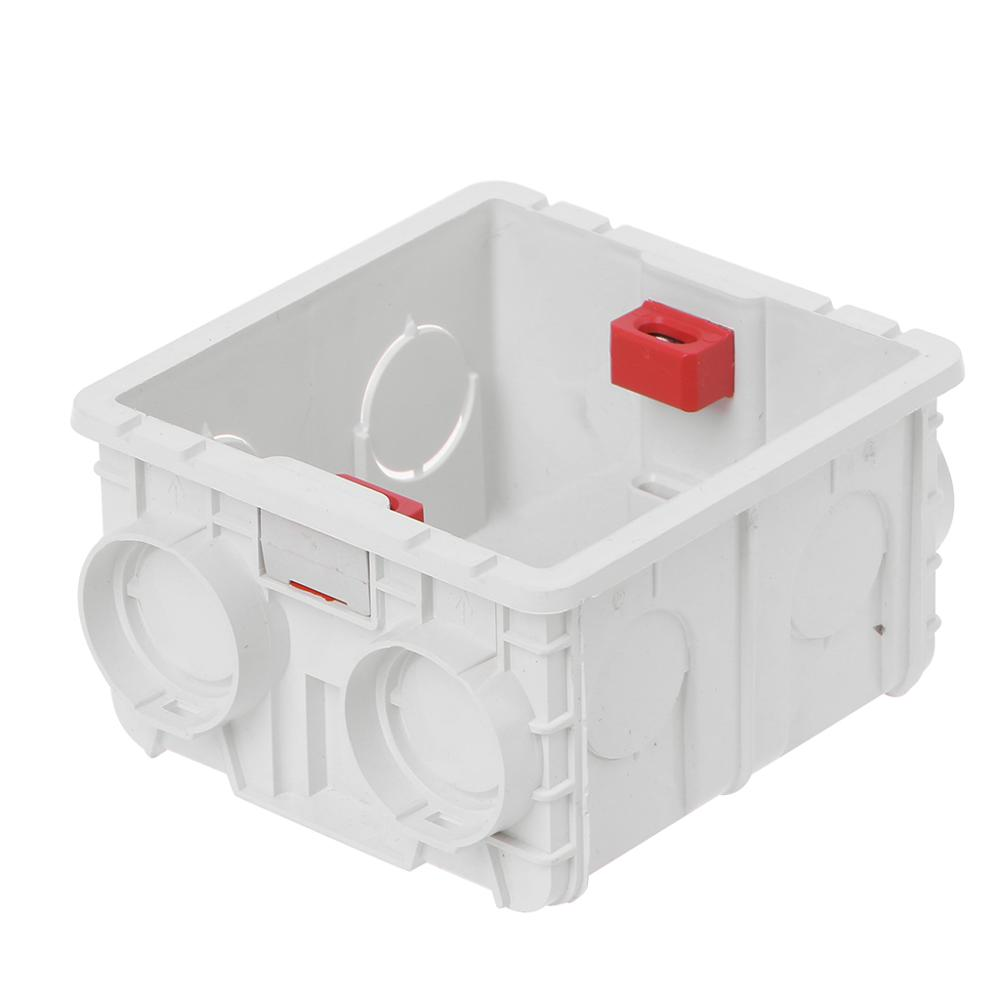 86-Type PVC Junction Box Wall Mount Cassette For Switch Socket Base Electrical Equipment Supplies