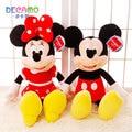 Genuino Mickey Minie muñeca, juguetes de peluche, Mickey Mouse muñecas, regalo de cumpleaños para enviar a los amigos