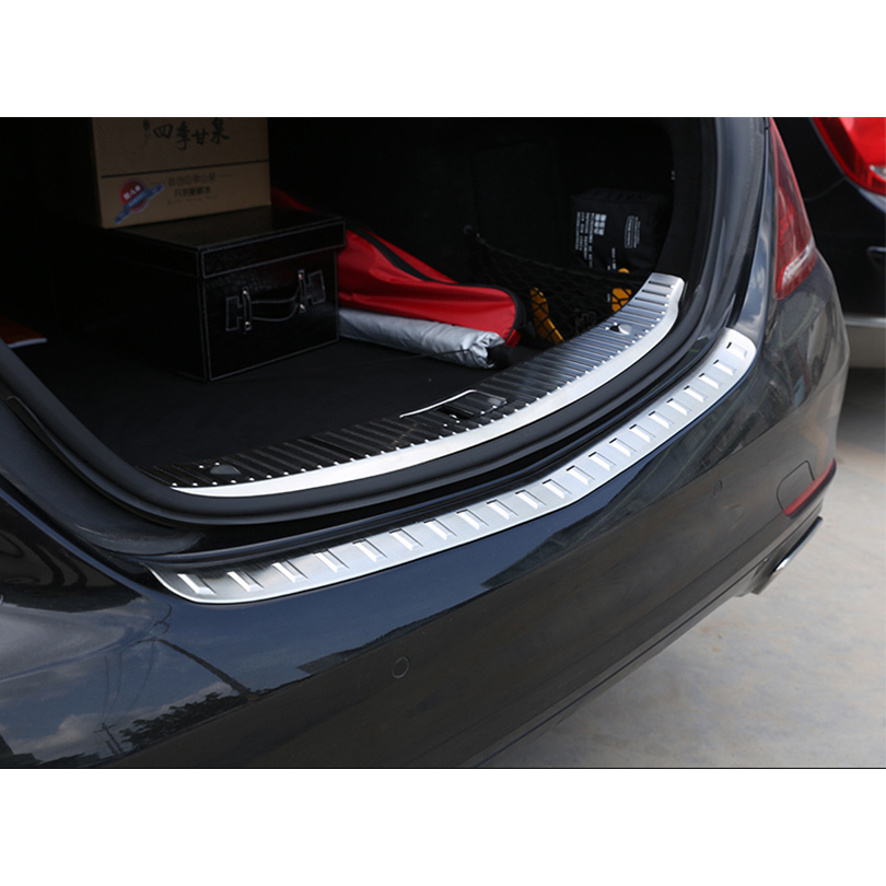 For Mercedes Benz S Class W222 S320 S400 2014 2018 Stainless Rear Bumper Inner Outer Sill