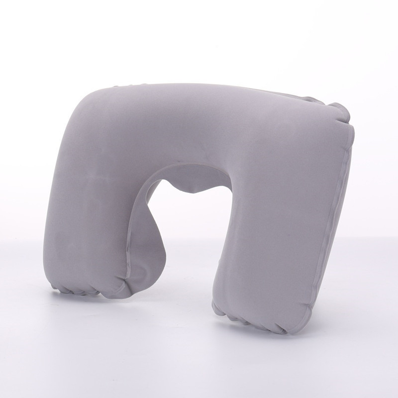 XC USHIO Inflatable Neck Pillow Travel U Shape Cushion Office Airplane Driving Nap Support Head Rest Health Care Decorative image