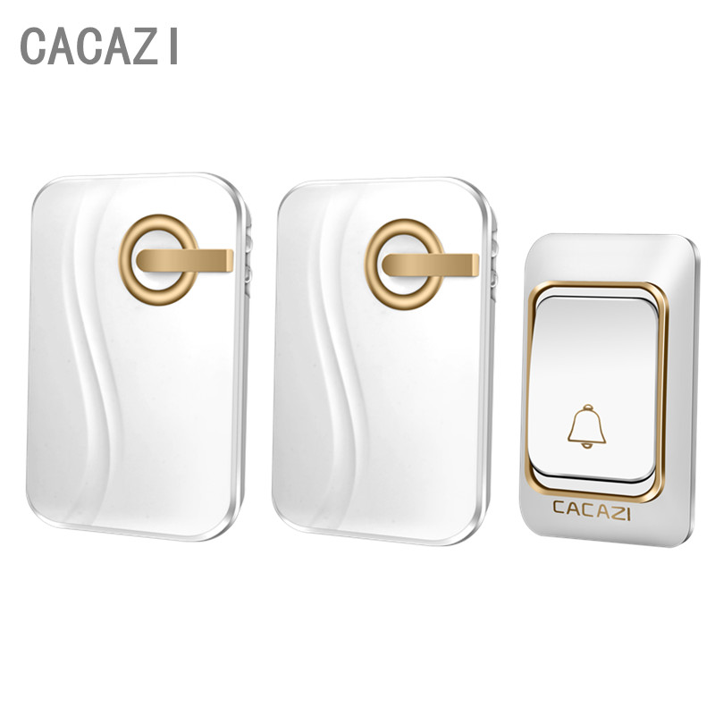 CACAZI NEW DC Wireless Doorbell ring 200M Remote Waterproof smart Door bell Chime 38 music 1 Transmitter 2 Receiver need battery  cacazi dc wireless doorbell need battery 150m remote waterproof gate door bell chime ring wireless 36 tunes 1 emitter 2 receiver