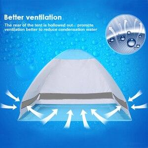 Image 5 - KEUMER автоматический пляжный тент с защитой от ультрафиолета, 2 человека, палатка для кемпинга, Мгновенный Всплывающий Открытый Анти УФ тент, тенты для улицы, солнцезащитный тент