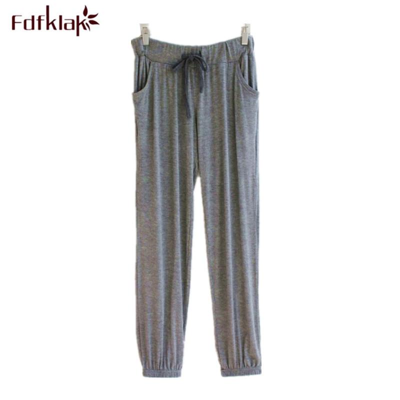 Large Size Modal Cotton Home Pant Comfortable Sleepwear Pajama Pants Lounge Wear 2019 New Long Pant Sleeping Pyjama Trousers