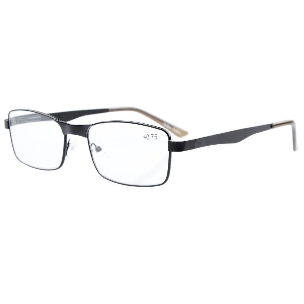 R15016 Eyekepper Readers Rectangle Spring Hinge Metal Reading Glasses & Reading Sunglasses  +0.50----+4.00