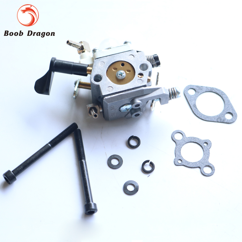 Baja carburator for 26cc 29cc 30.5cc engine for 1/5 HPI KM ROVAN baja 5b 5ss 5t Losi 5ive T rovan gas baja 30 5cc 4 bolt chrome engine with walbro carb and ngk spark plug for 1 5 scale hpi km losi rc car parts