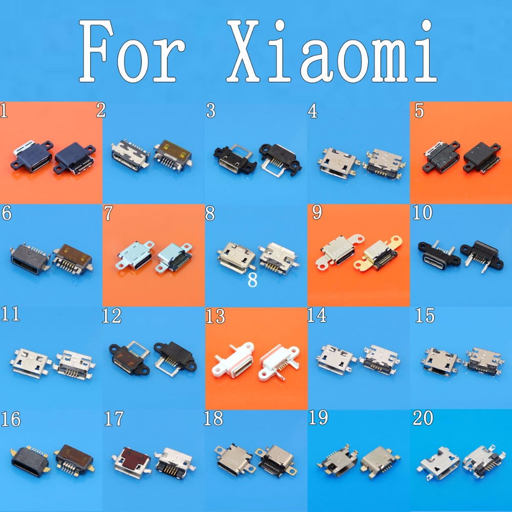 USB Charging Port Charge Connector Socket For Xiaomi 1S 1 2A 2S Mi2 Mi3 4I Mi4 Mi5 4C 4S MAX Pad Redmi 1S 2A 3S Note 2 3 4 micro usb 2 0 host cable otg adapter for xiaomi redmi note 4 3 2 redmi 3 pro mi note prime mi4 mi3 mi2a mi 2s 1s mi max