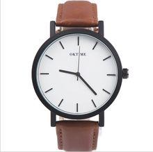 2016 Sport Montres Militaire Armée hommes montre de luxe marque hommes montre en cuir imperméable Brun Noir Grand Cadran Mâle Horloge