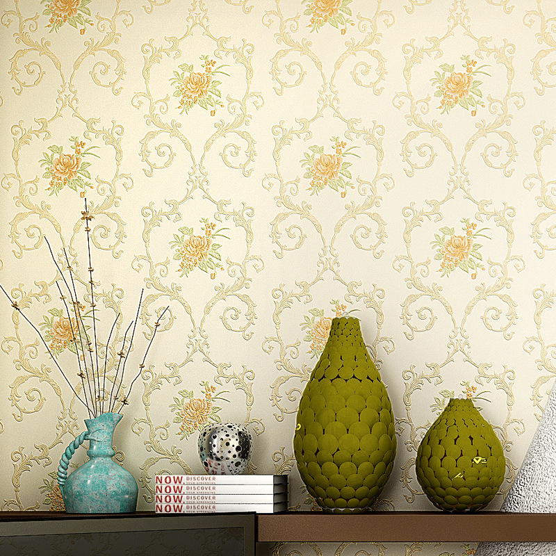 Europe Desktop Mural Wallpaper Roll Imitation Non-woven Wall Paper Feature Wallpaper for Living Room Bedroom Home Decor 10M