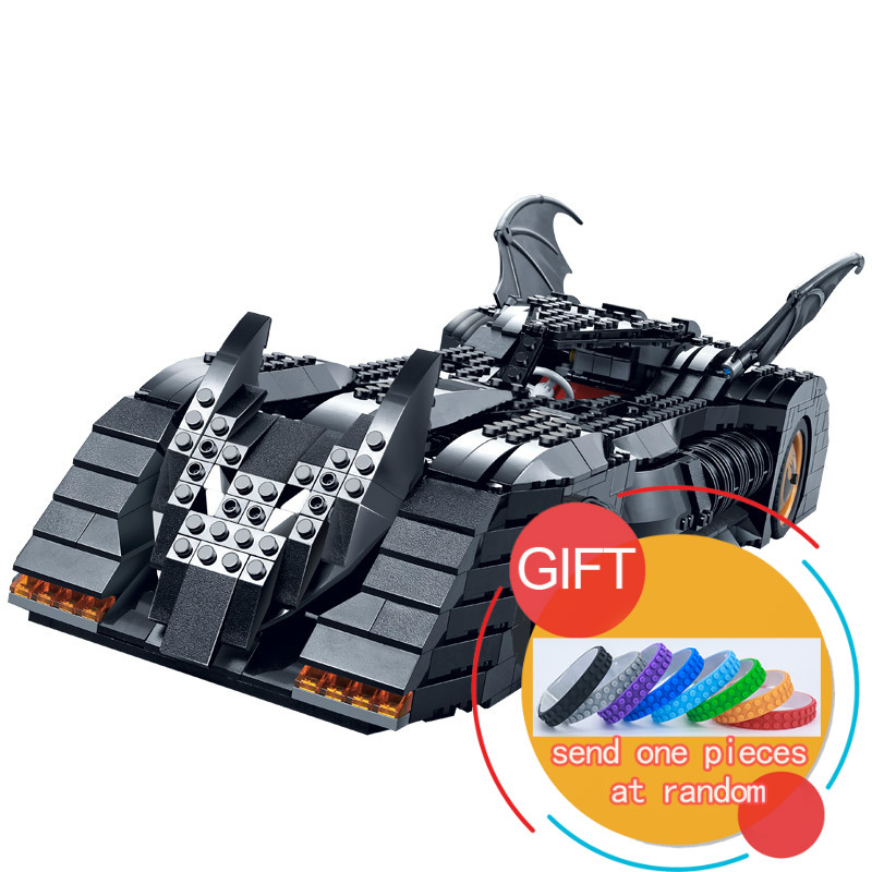 7116 1045Pcs Super Hero Batman The Ultimate Batmobile Model Building Kits Blocks Bricks Compatible Gift 7784 lepin