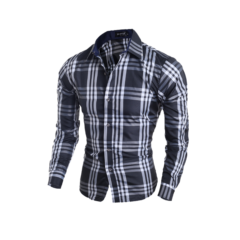 Clearance fashion men brand shirt dress high quality long for Mens dress shirts outlet
