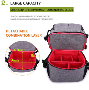 Image 5 - Waterproof Camera Bag Photo Photography Backpack For Polaroid Canon Nikon Sony DSLR Shoot Cameras Portable Travel Pouch Bags
