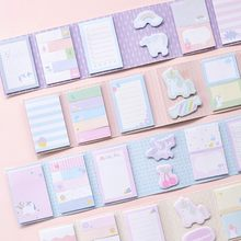 Kawaii Cartoon Self-adhesive Sticky Notes Memo Pad Weekly Planner Stickers Cute Notepad Office School Stationery Supplies 02073(China)