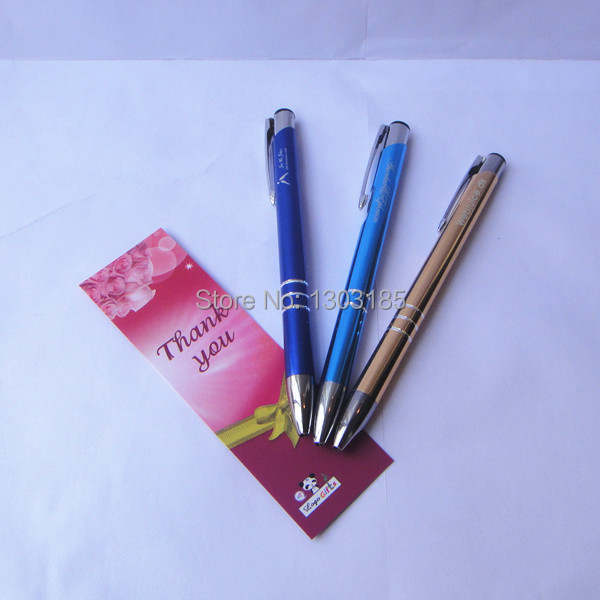Us 149 51 18 Off Cheap Business Gifts 200pcs A Lot Personalized Pens Business Advertising Gifts Engraved With Your Own Brand Name And Text In Banner