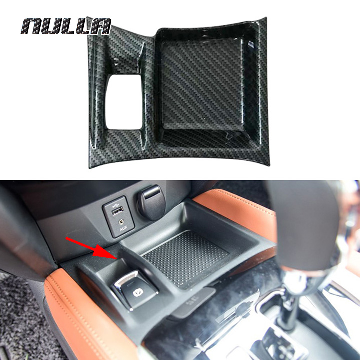 NULLA Car Sticker ABS Carbon Look For Nissan Xtrail X-Trail X Trail T32 2017 Electronic Hand Brake Cover Accessories Styling 2pcs lot abs rearview mirror cover stickers suitable for nissan xtrail x trail rogue t32 2014 2015 2016 car styling accessories