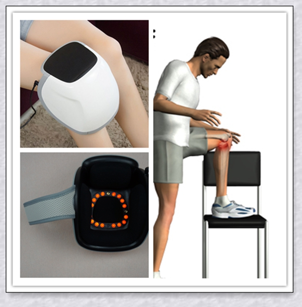 660nm/808nm electric knee pain relief laser physical therapy electric vibration and heating knee care massager недорого