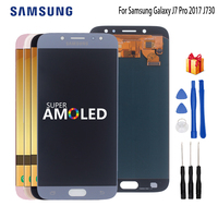 AMOLED For SAMSUNG Galaxy J7 Pro LCD J7 2017 J730 J730F LCD Display Digitizer Assembly Replacement Parts