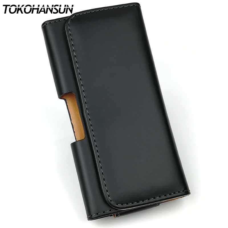 TOKOHANSUN Glossy/Matte Plain Pu Leather Case Pouch Waist Bags Fundas for Asus Zenfone 4 Max ZC520KL Case Cell Phone Accessorie