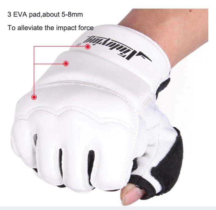 Taekwondo Gloves Fighting Hand Protector WTF Approved Martial Arts Sports Hand Guard PU Leather Fitness Boxing Gloves 3