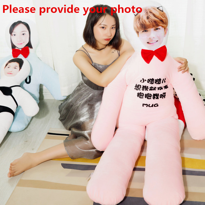 New Hot Photo Customization DIY Real Person Cushion Plush Toys Dolls Stuffed Pillow Sofa Car Decorative Creative Birthday Gift