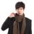 Diseño clásico Masculina Bufanda a cuadros clásico tartán bufanda bufandas de Rayas Hombre Otoño Invierno Cálido bufanda de algodón Suave de Lujo S01F3