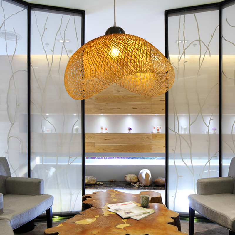 Creative personality new Chinese bamboo Pendant Lights Japanese style restaurant Nordic art modern simplified lamps ZH ZB45
