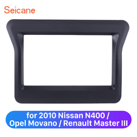 Seicane 173*98/178*100/178*102mm 2 Din Car Stereo Panel Frame Dash Trim Kit for 2010 Nissan N400 Opel Movano Renault Master III