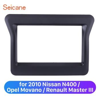 Seicane * 173*98/178*100/178*102mm 2 Din coche estéreo Marco de panel Kit de marco de panel para Nissan 2010 N400 Opel Movano Renault Master III